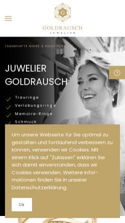Vorschau der mobilen Webseite www.goldrausch-frankfurt.de, Goldrausch