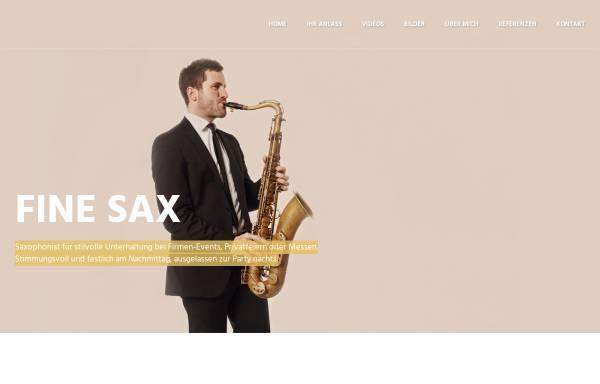 Vorschau von www.fine-sax.com, Fine Sax