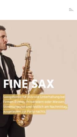 Vorschau der mobilen Webseite www.fine-sax.com, Fine Sax