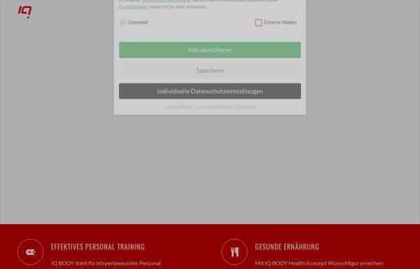 Vorschau von iq-body.de, IQ Body Personal Training