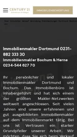 Vorschau der mobilen Webseite schmittmann.century21.de, CENTURY 21 Schmittmann & Kollegen
