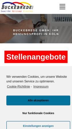 Vorschau der mobilen Webseite www.fuerdashaus.de, Buckebrede GmbH