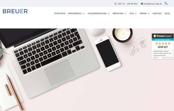 Vorschau von breuer-bbs.de, BREUER Beratung - Büro - Service