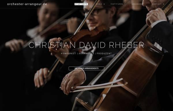 Vorschau von www.orchester-arrangeur.de, Arrangeur für Orchester - Christian David Rheber