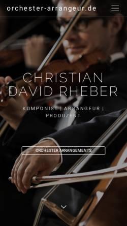Vorschau der mobilen Webseite www.orchester-arrangeur.de, Arrangeur für Orchester - Christian David Rheber