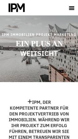 Vorschau der mobilen Webseite www.ipmimmobilien.de, IPM Immobilien Projekt Marketing GmbH