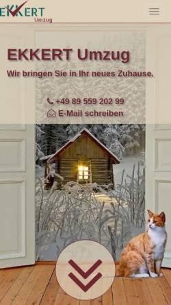 Vorschau der mobilen Webseite www.ekkert-umzug.de, EKKERT Umzug