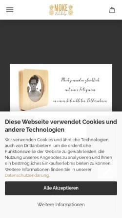 Vorschau der mobilen Webseite www.moke-style.de, MOKE Style Laserdesign