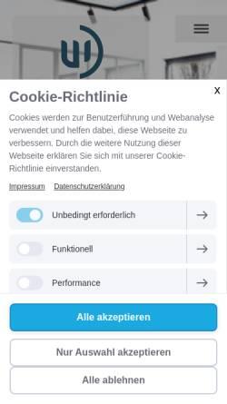Vorschau der mobilen Webseite www.wachter-heidenheim.de, Wachter GmbH & Co.KG