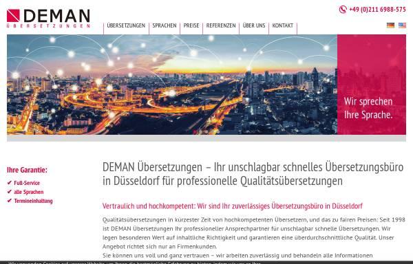 Vorschau von www.deman-uebersetzungen.com, DEMAN Übersetzungen GmbH