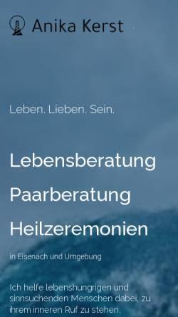 Vorschau der mobilen Webseite www.anikakerst.de, Anika Kerst - Lebens-, Paar- und Familienberatung
