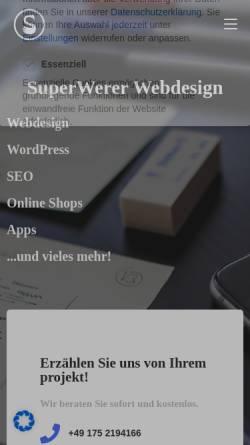 Vorschau der mobilen Webseite superwerer.de, SuperWerer Webdesign