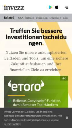 Vorschau der mobilen Webseite invezz.com, Invezz