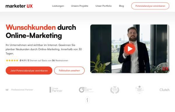 Vorschau von www.marketer-ux.com, marketer UX GmbH