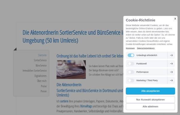 Vorschau von www.dieaktenordnerin.de, Die Aktenordnerin - Cornelia Lange