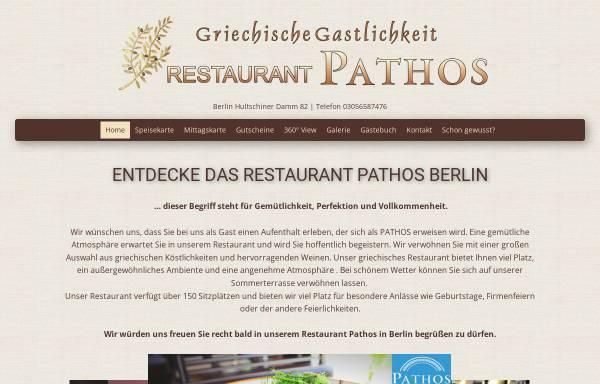 Vorschau von www.pathos-berlin.de, Restaurant Pathos