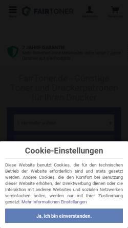 Vorschau der mobilen Webseite www.fairtoner.de, CPO Concept GmbH - FairToner.de