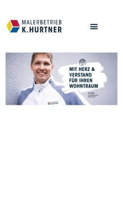 Vorschau der mobilen Webseite maler-hurtner.de, Malerbetrieb K. Hurtner GmbH