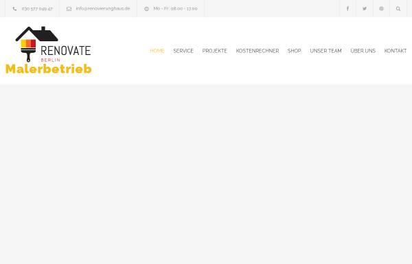 Vorschau von www.renovierunghaus.de, Haus- und Gartenrenovierung Tahir Gemici