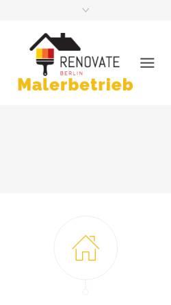 Vorschau der mobilen Webseite www.renovierunghaus.de, Haus- und Gartenrenovierung Tahir Gemici