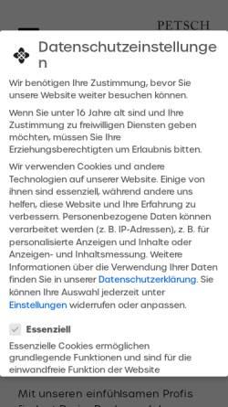 Vorschau der mobilen Webseite www.allaboutstudents.de, Petschwork Consulting GmbH