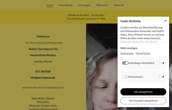 Vorschau von www.vet-balance.de, VetBalance