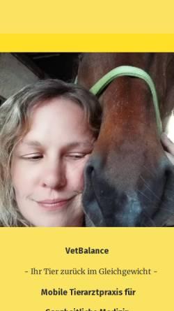 Vorschau der mobilen Webseite www.vet-balance.de, VetBalance