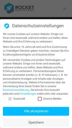 Vorschau der mobilen Webseite www.rocket-homepage.de, Werbeagentur Sitzler GbR