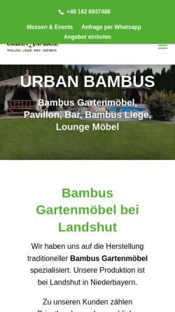 Vorschau der mobilen Webseite www.urban-bambus.de, Urban Bambus