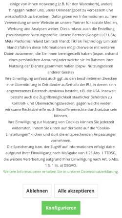 Vorschau der mobilen Webseite www.drlavea.de, HIGENA Cleansing and Cosmetics GmbH