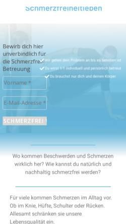 Vorschau der mobilen Webseite schmerzfreiheitleben.de, schmerzfreiheitleben