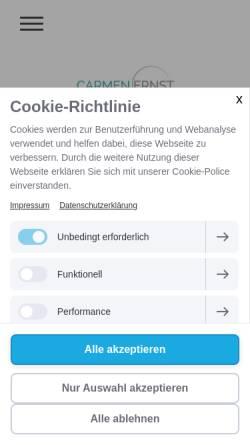 Vorschau der mobilen Webseite www.carmenernst.de, Carmen Ernst Gründerberatung