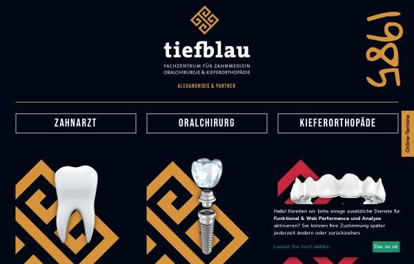 Vorschau von www.tiefblau.koeln, tiefblau Zahnarztpraxis Köln