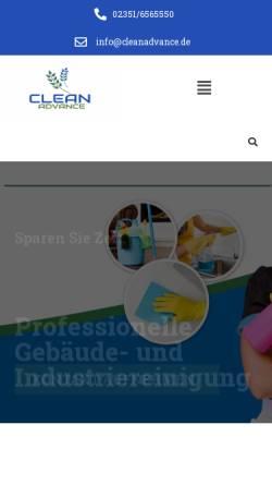 Vorschau der mobilen Webseite www.cleanadvance.de, Clean Advance