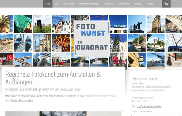 Vorschau von www.fotokunstimquadrat.de, Foto Kunst im Quadrat