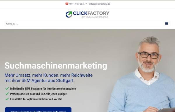 Vorschau von www.clickfactory.de, Clickfactory