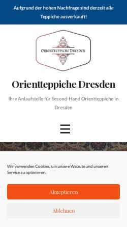 Vorschau der mobilen Webseite orientteppiche-dresden.de, Orientteppiche Dresden Maximilian Albrecht