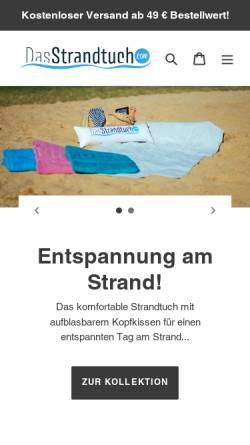 Vorschau der mobilen Webseite DasStrandtuch.com, DasStrandtuch