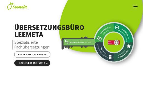 Vorschau von www.leemeta-uebersetzungen.de, Leemeta Übersetzungen