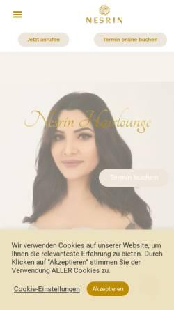 Vorschau der mobilen Webseite nesrinhairlounge.de, Nesrin Private Hairlounge