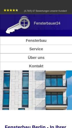 Vorschau der mobilen Webseite fensterbauer24.com, Fensterbau Berlin und Potsdam