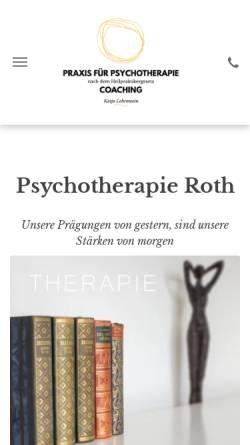 Vorschau der mobilen Webseite www.katja-lobenwein.de, Psychotherapie Roth - Katja Lobenwein