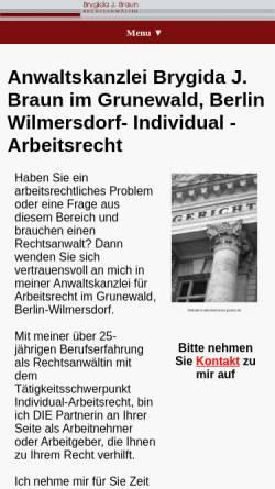 Vorschau der mobilen Webseite www.lexit.de, Rechtsanwältin Brygida J. Braun