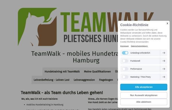 Vorschau von www.team-walk.de, Teamwalk Mobiles Hundetraining