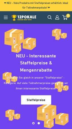 Vorschau der mobilen Webseite 12pokale.de, 12pokale.de UG (haftungsbeschränkt) & Co. KG
