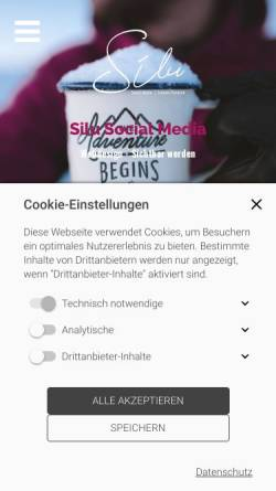 Vorschau der mobilen Webseite www.silu-socialmedia.de, Silu Social Media