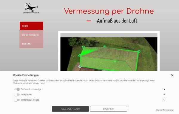 Vorschau von drohnenaufmass.de, drohnenaufmass - Firma Daniel Kohn Consulting