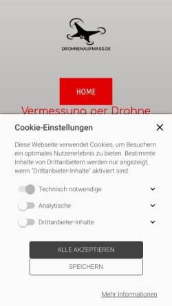 Vorschau der mobilen Webseite drohnenaufmass.de, drohnenaufmass - Firma Daniel Kohn Consulting