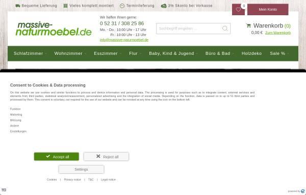 Vorschau von massive-naturmoebel.de, massive-naturmoebel.de GmbH
