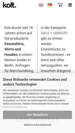 Vorschau der mobilen Webseite koltliebtdich.de, Kolt